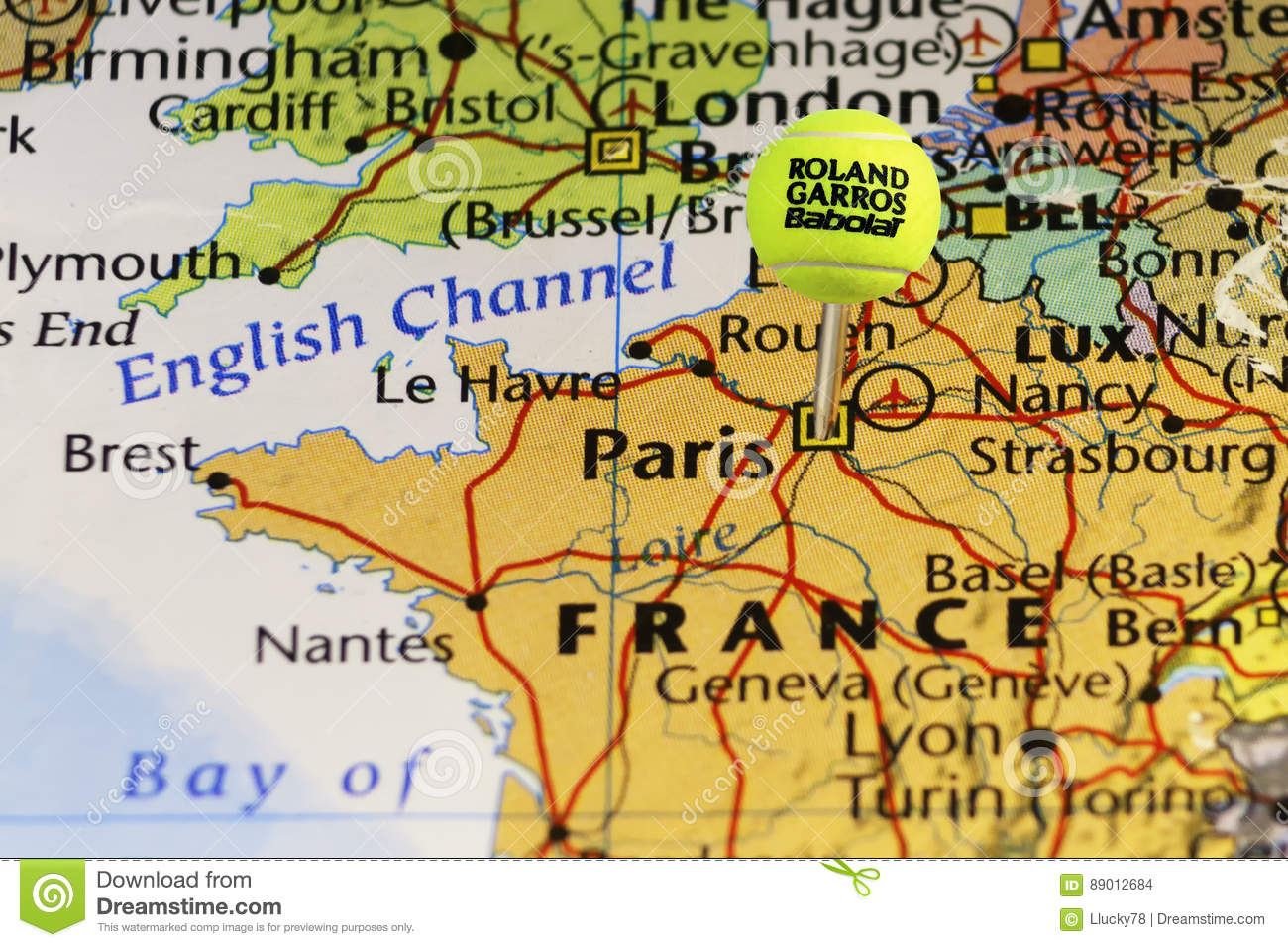 Map Of France Nancy.2016 Roland Garros Official Tennis Ball As Pin On Map Of France