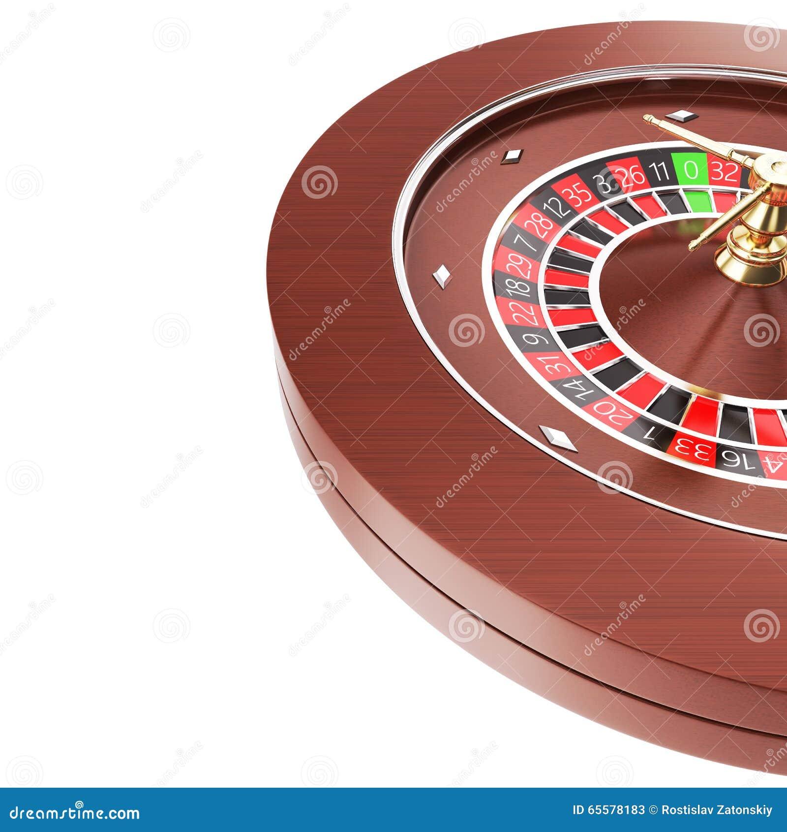 Roleta do casino isolada em um fundo branco