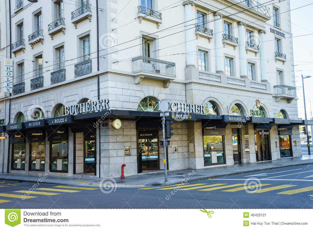 Rolex store editorial photo image 46425121 for Jewelry stores in geneva switzerland