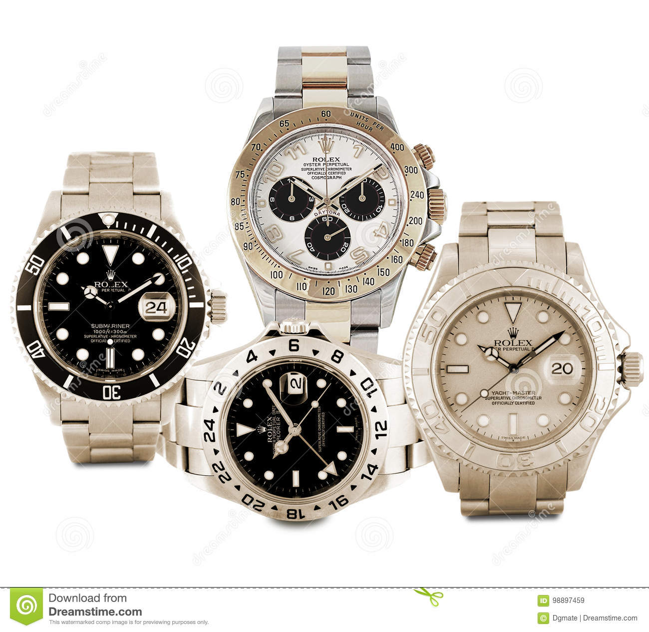 Rolex Watches Editorial Stock Image Image Of Stainless 98897459