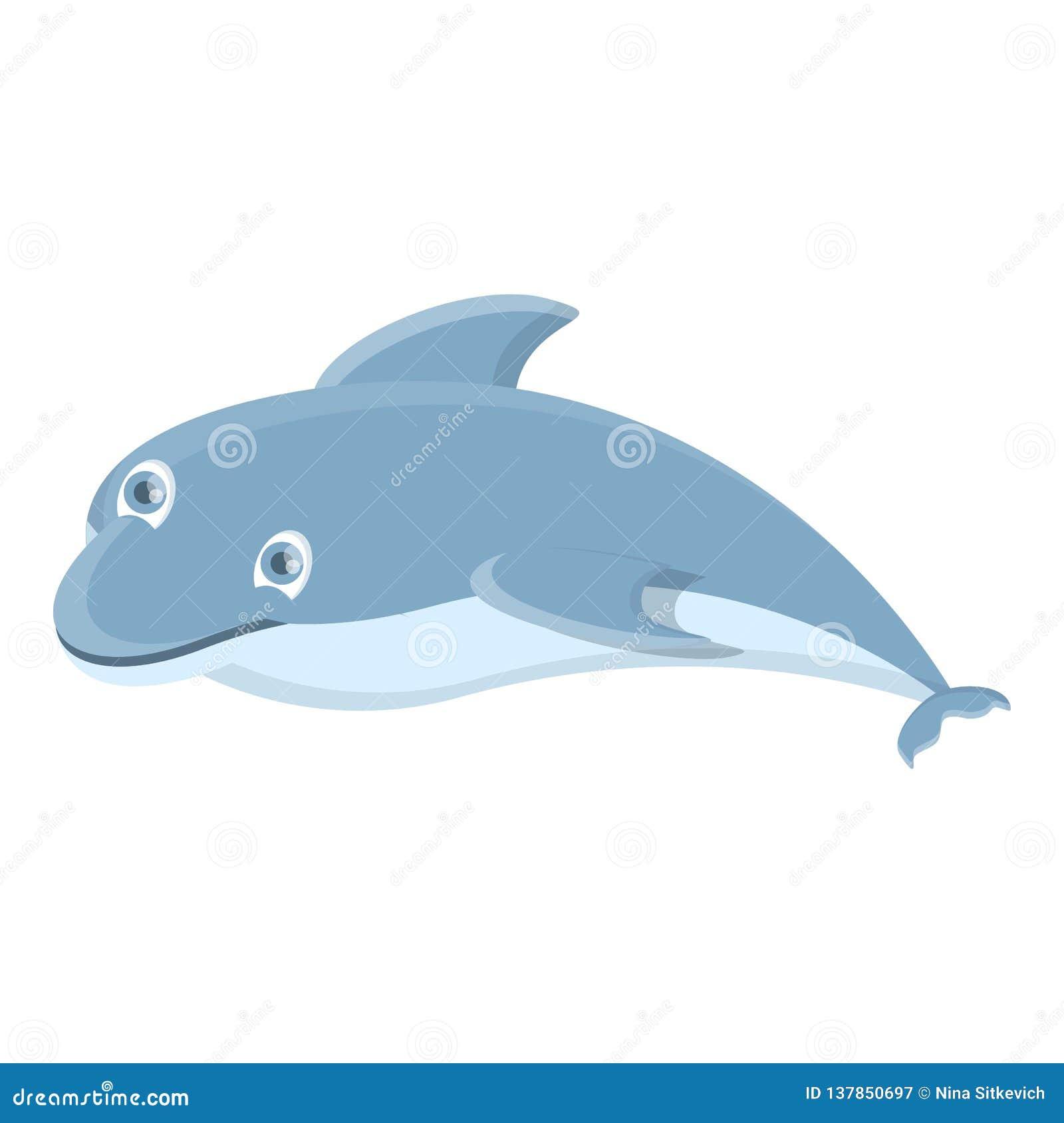 Rolig delfinsymbol, tecknad filmstil