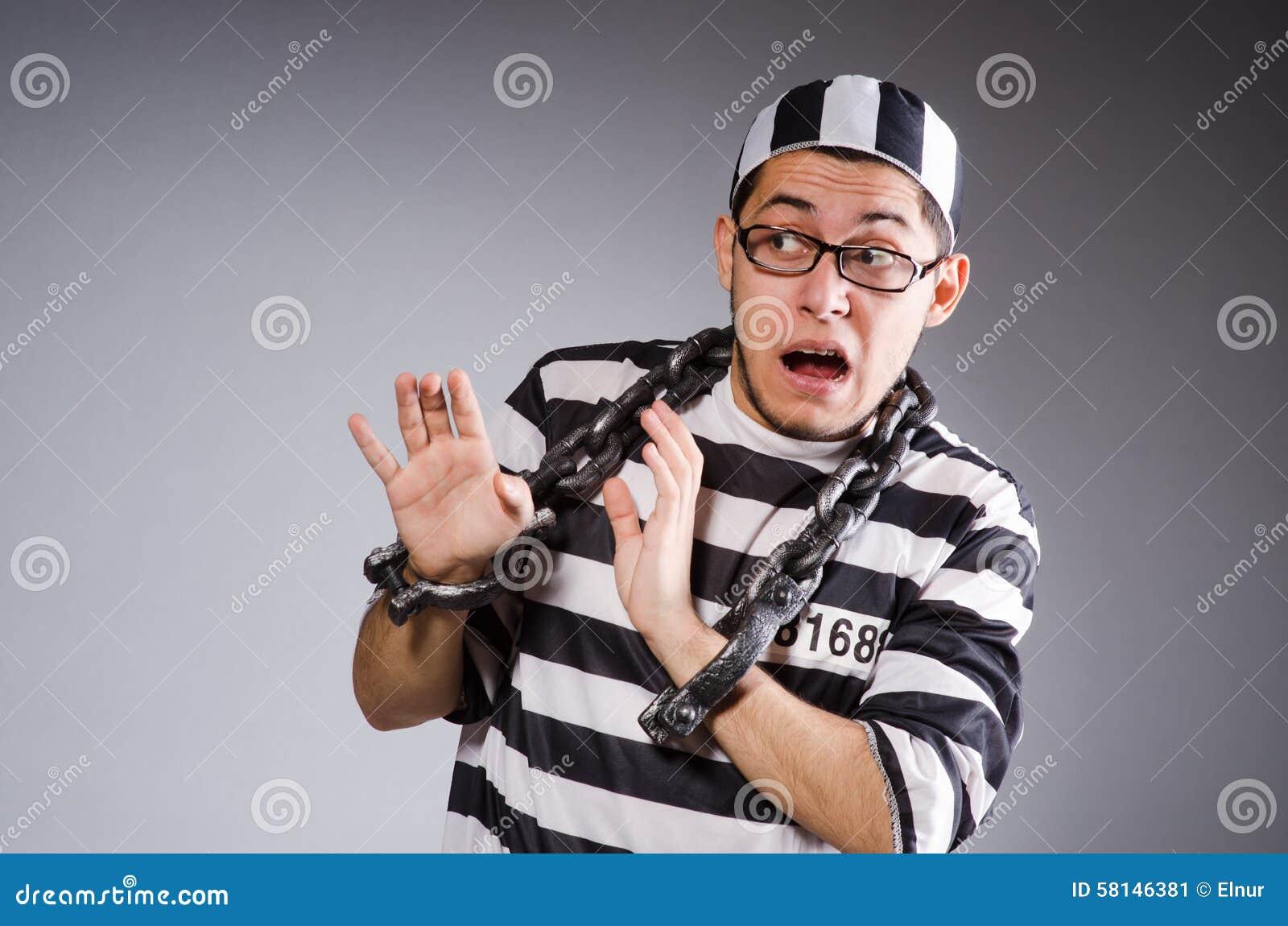 Rolig fånge i kedjor fotografering för bildbyråer. Bild av kedja ... a4f763e4643d8