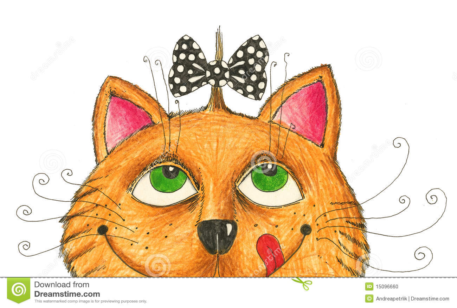 Rolig frisyr för katt