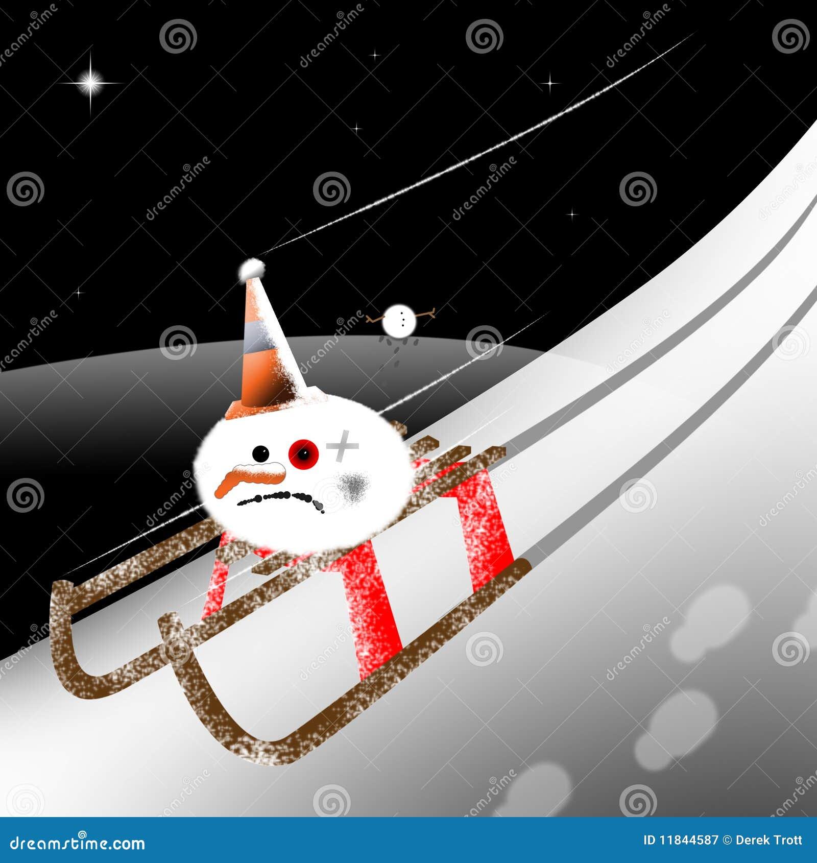 Rolig snowman