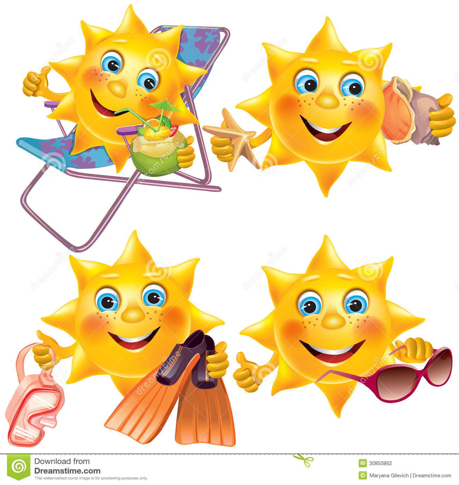 Arkivbild Rolig Sol P%C3%A5 Semester Image30850862 on Transparent Ice Cream Emoji