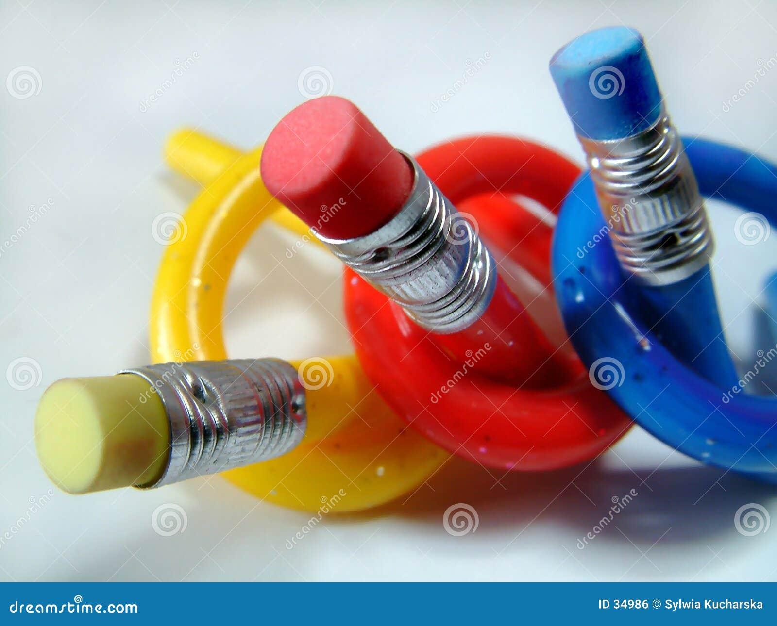 Roliga blyertspennor