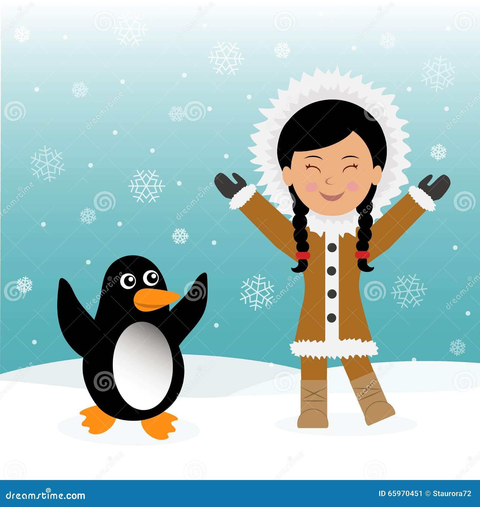Roliga danseskimåer och pingvin Begreppsbakgrundstur till Grönland