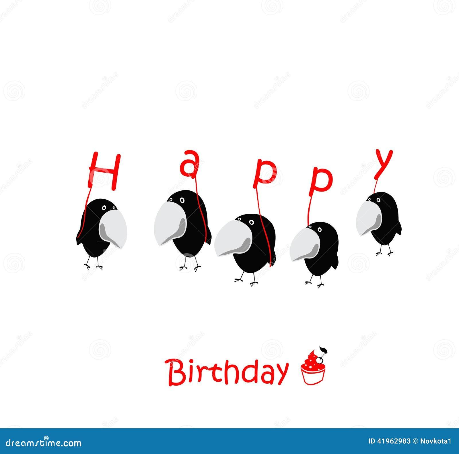 roliga kort födelsedag Roliga Fåglar För Kort För Lycklig Födelsedag Stock Illustrationer  roliga kort födelsedag