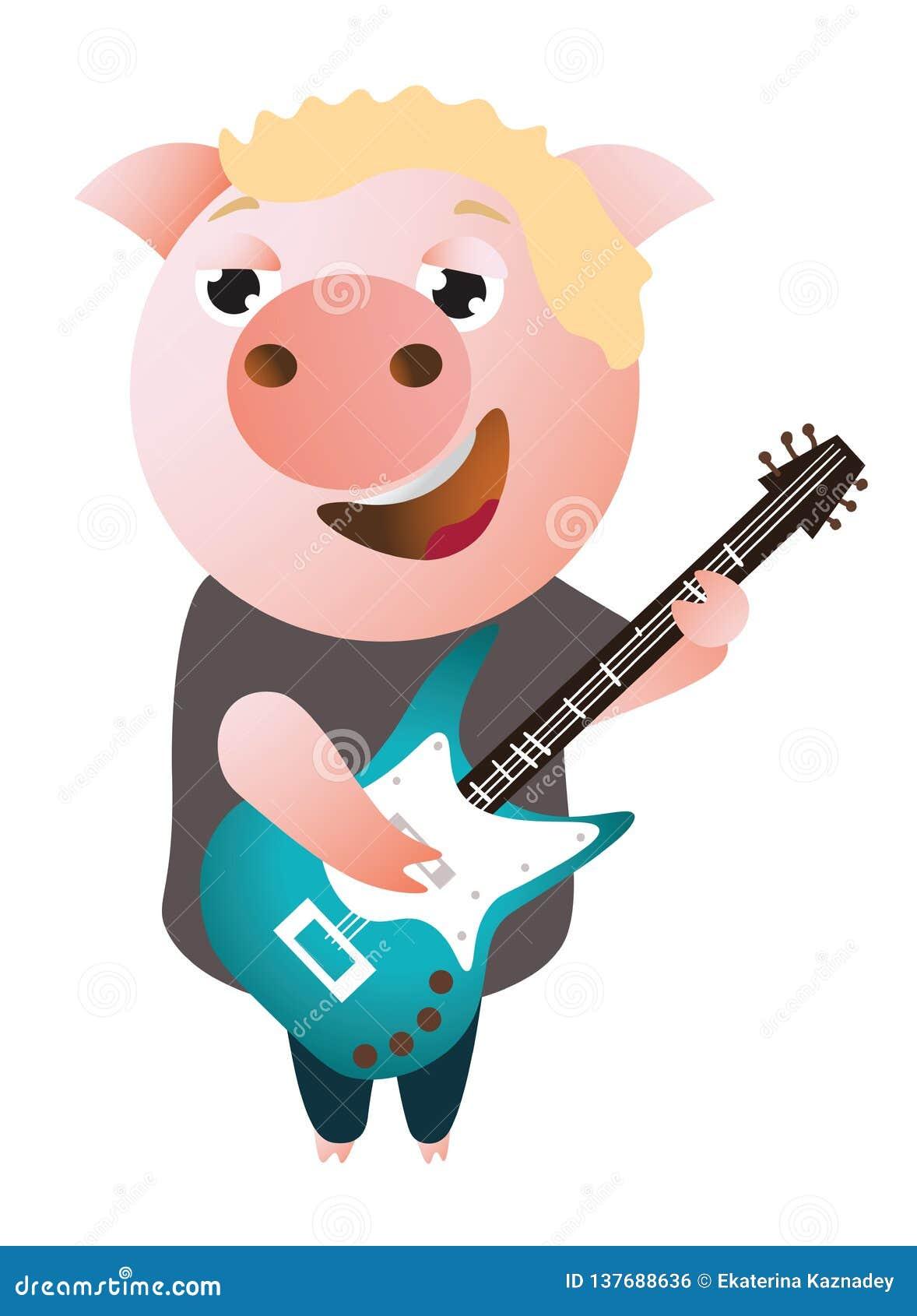 Roliga piggy allsånger och lekar på elbasen