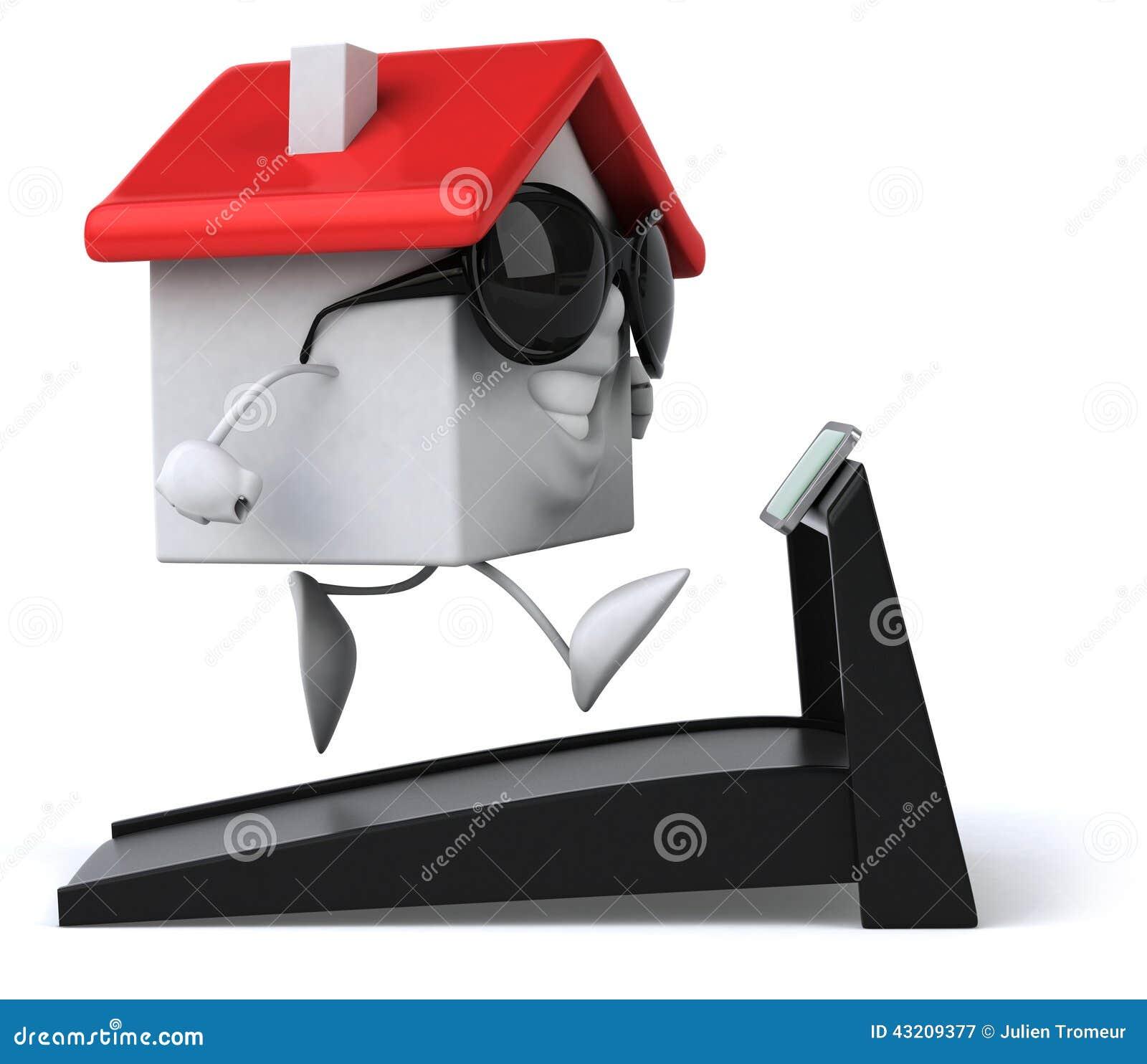 Download Roligt hus stock illustrationer. Illustration av utgångspunkt - 43209377