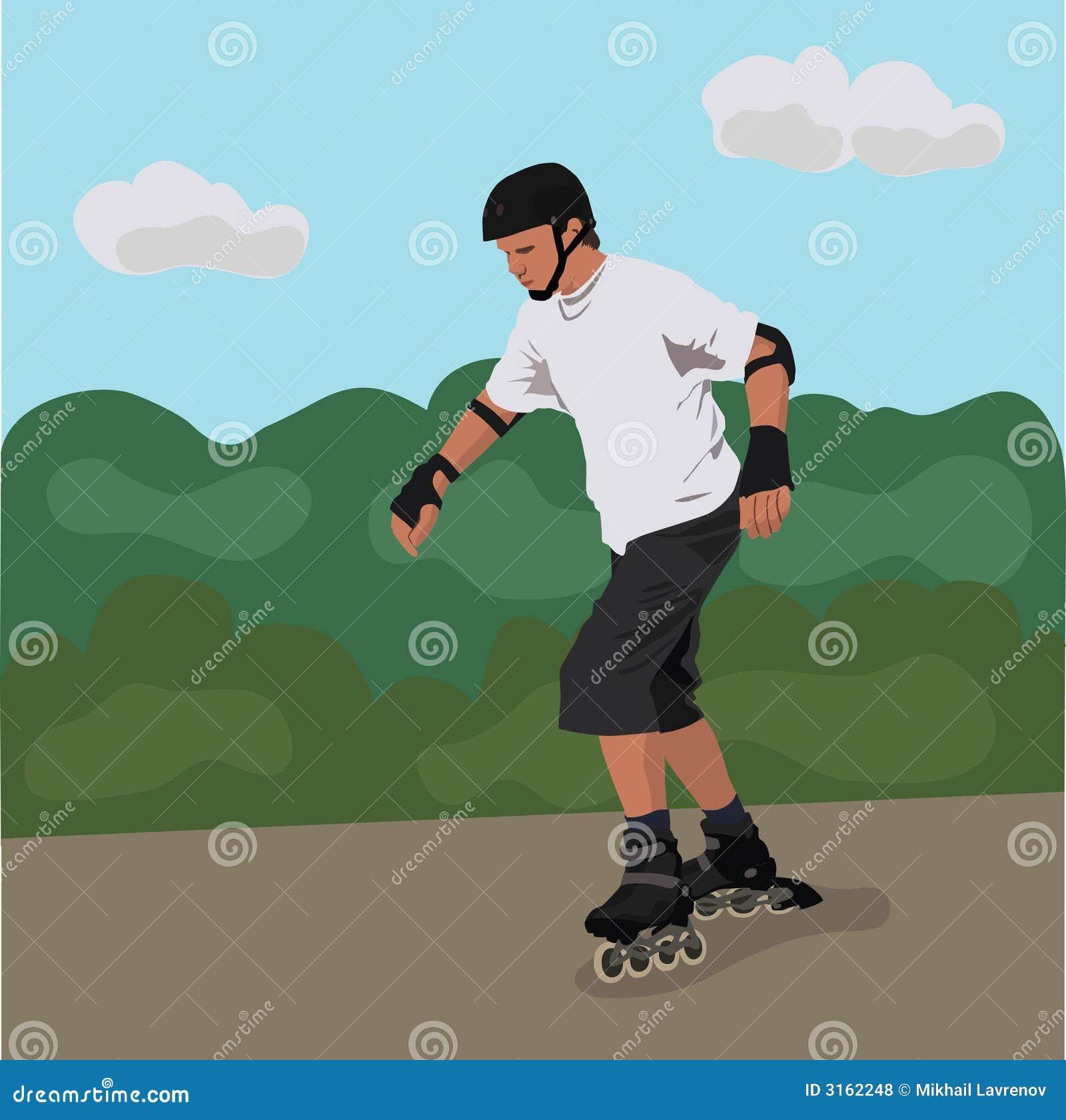 Rolkowego nastolatek łyżwiarstwa