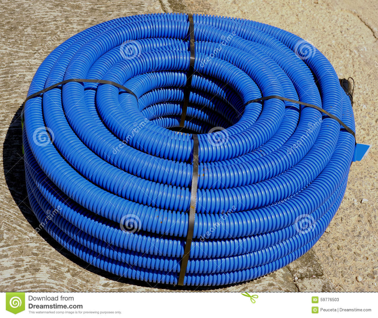 Roll of corrugated conduit stock image  Image of area - 59776503