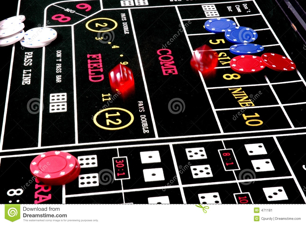 Download Roll the Dice2 stock image. Image of pass, table, gambling - 471181