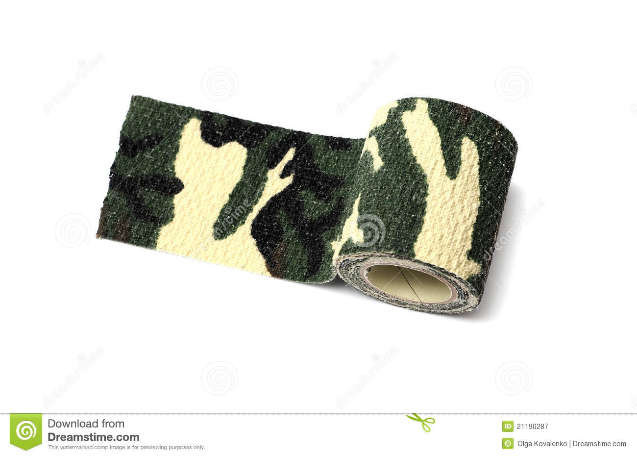 Roll of fabric camouflage tape