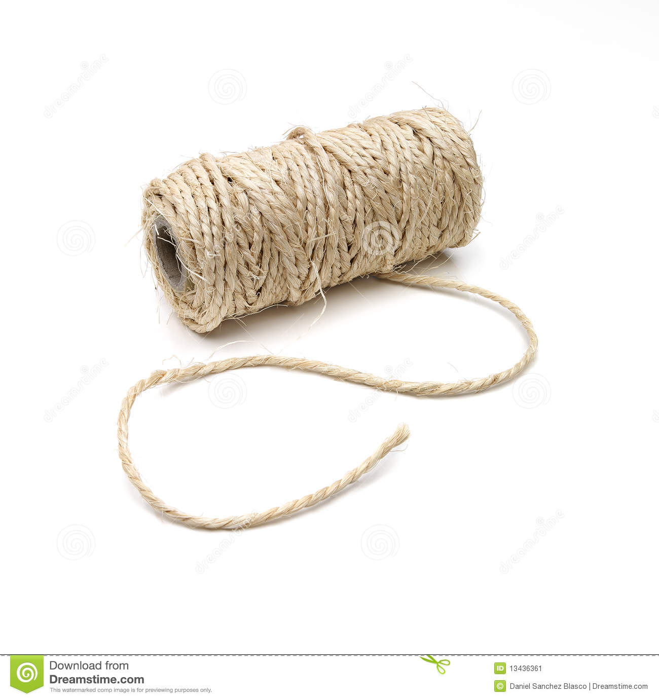Roll Of Hemp Thick String Stock Image - Image: 13436361