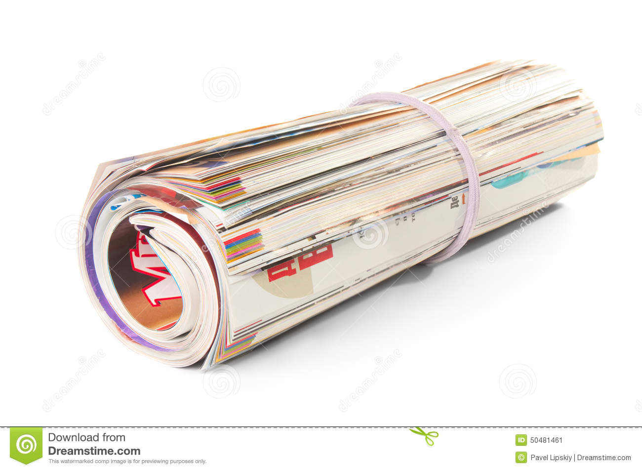 Roll of magazines