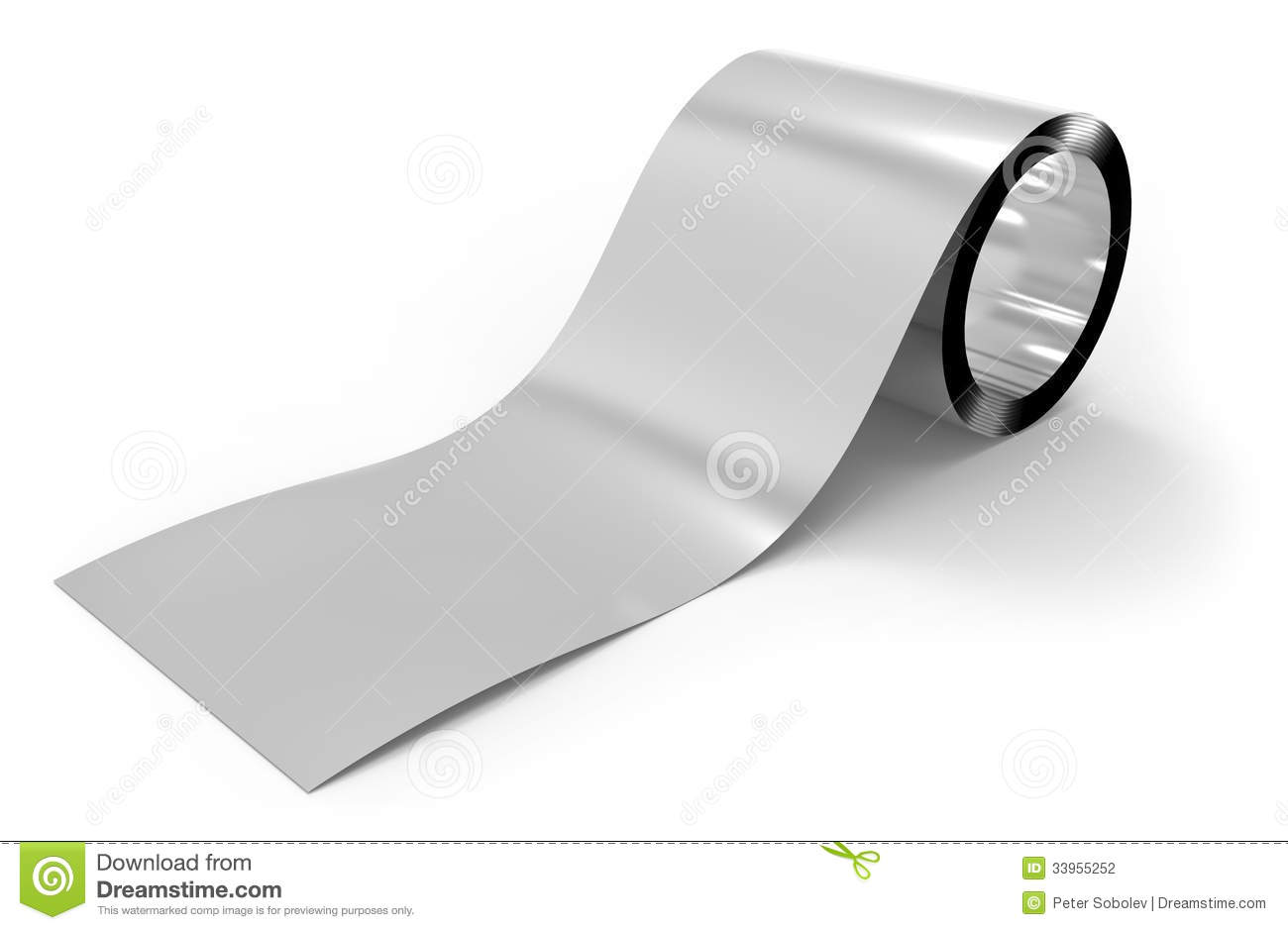 Roll Of Metal Foil Stock Photography Image 33955252