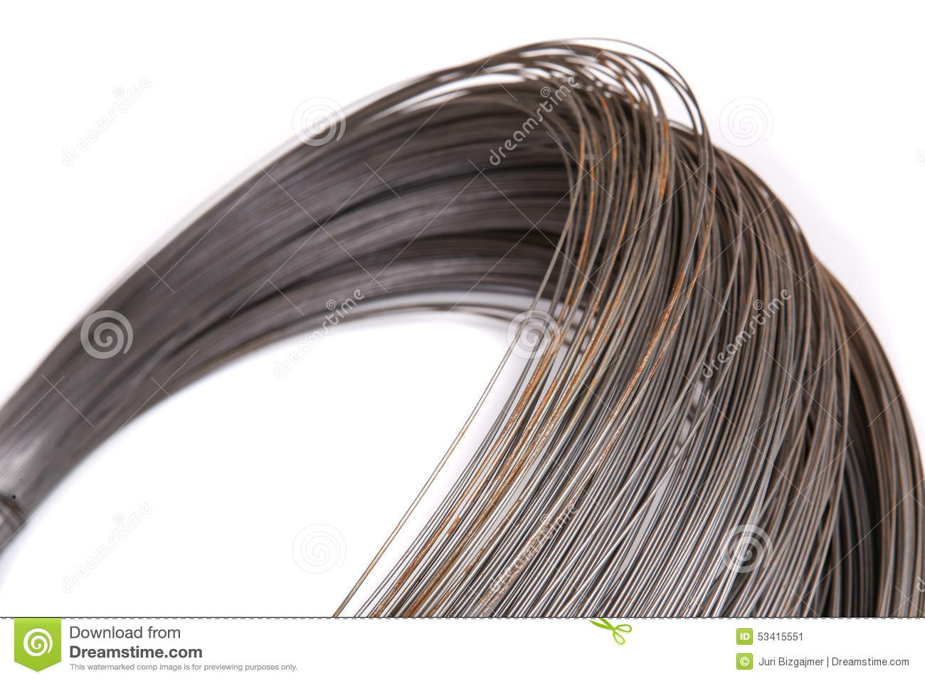 Roll Of Wire | Roll Of Metal Wire Stock Image Image Of Reflection Rusty 53415551