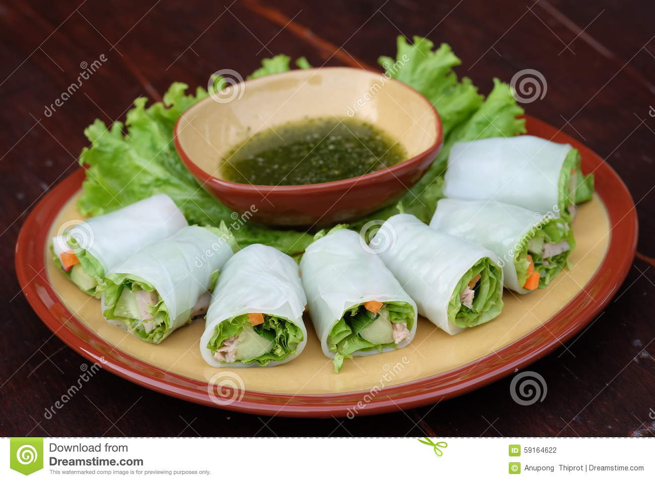 Roll noodles with vegetable and sauce, steamed rice noodle roll, asian ...