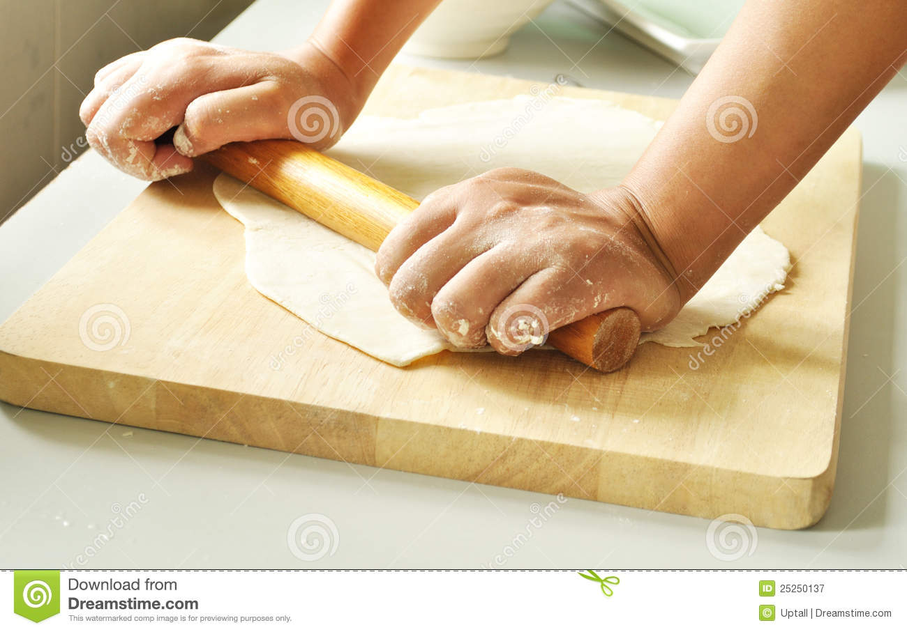 Rolling Pin Dough Roll out dough with rolling