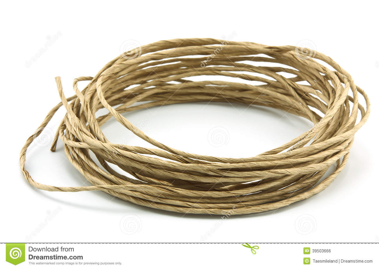Roll of rope isolated