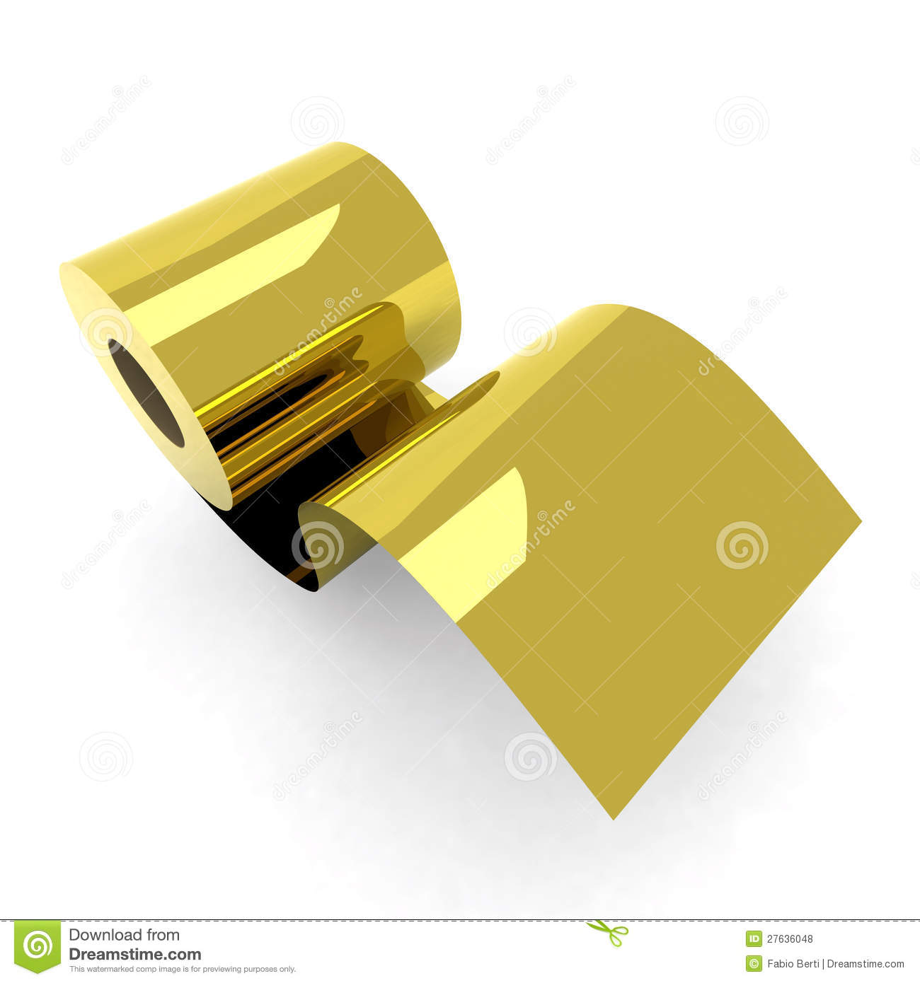 Roll Toilet Paper Gold Royalty Free Stock Photos Image 27636048
