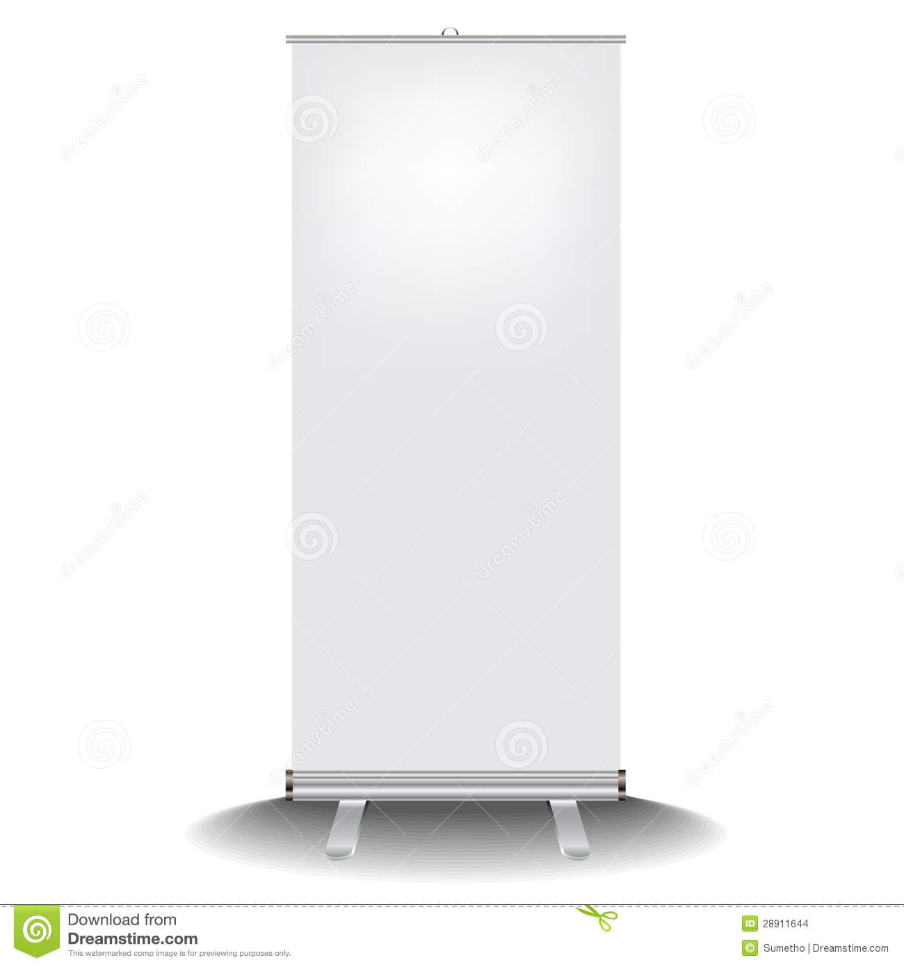 Roll Up Banner Stock Vector Illustration Of Blank Up