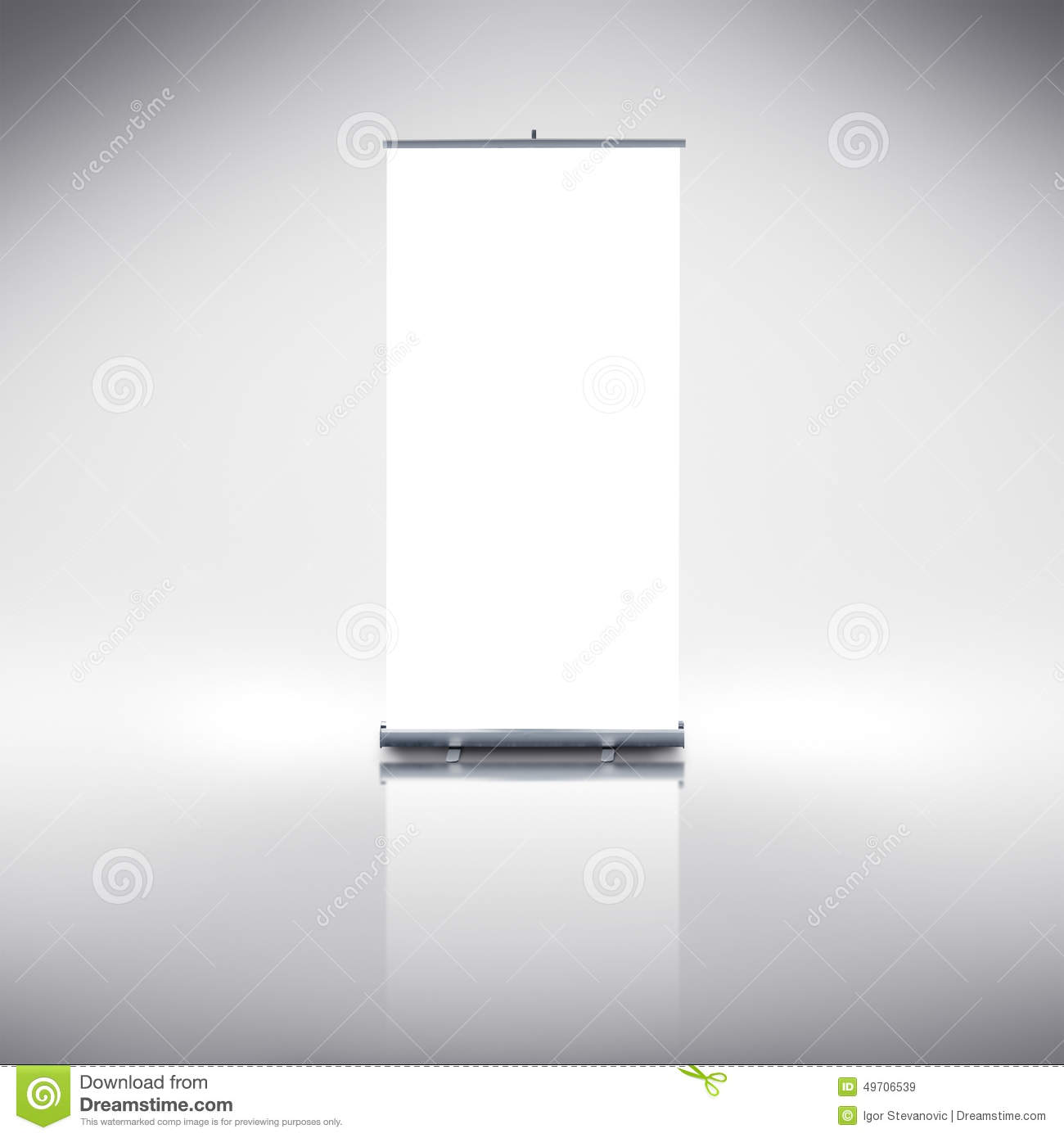 point of sale display template - roll up banner stock photo image 49706539