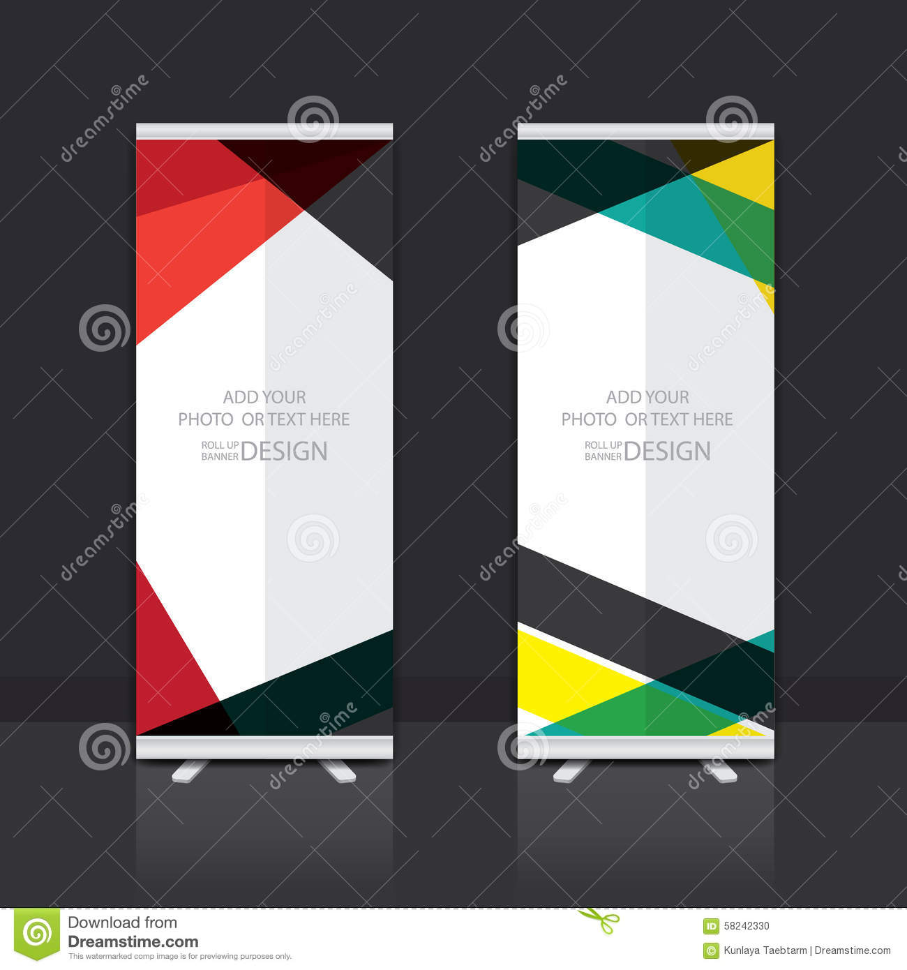 Stand Up Banner Designs : Roll up banner design stock vector image