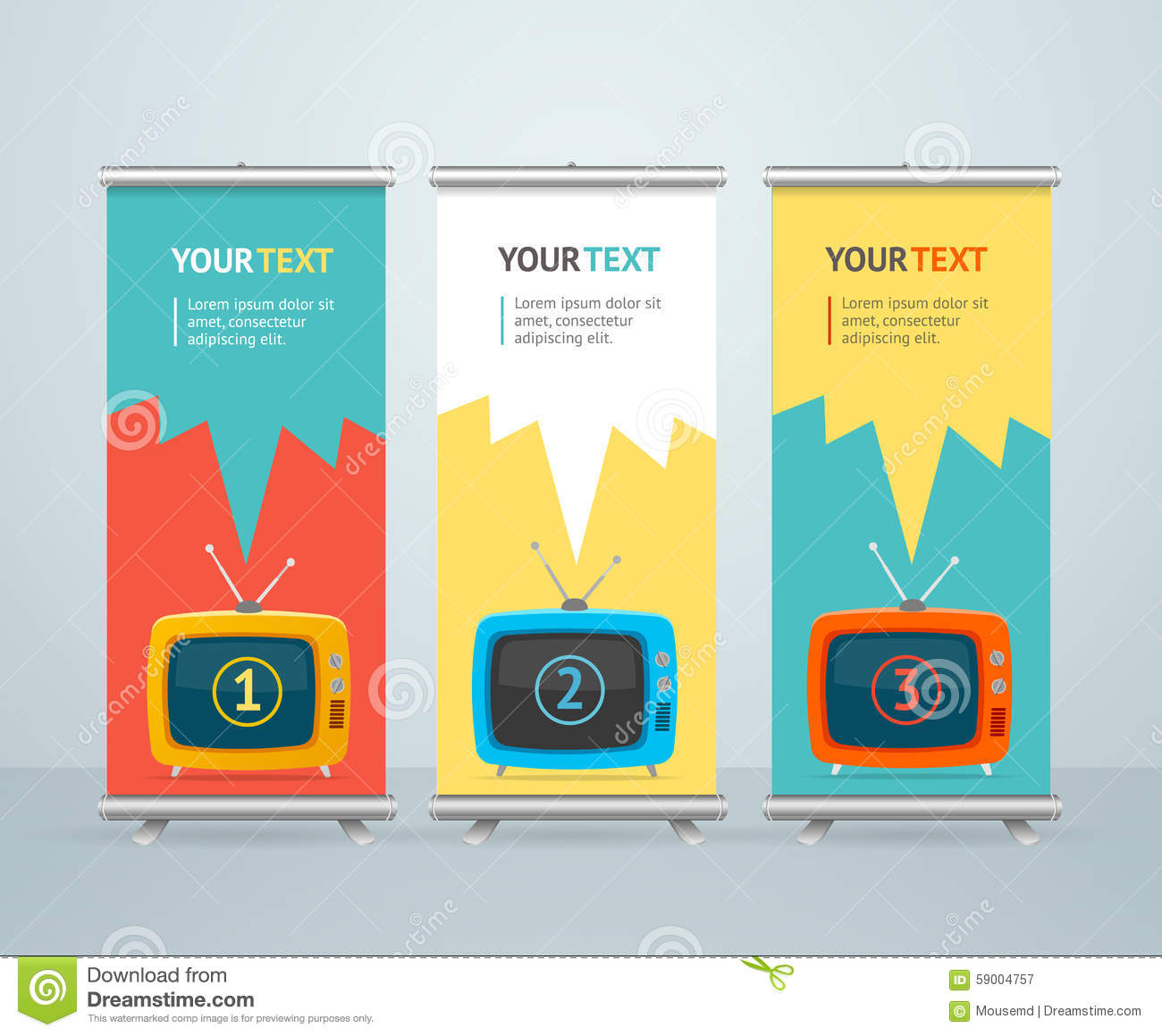 Stand Up Banner Designs : Vector stand alone icon in flat style cartoon