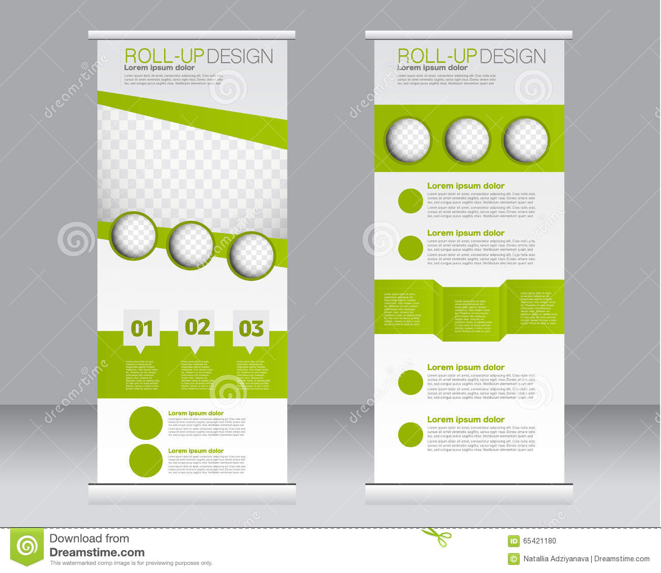 Roll Up Banner Stand Template Abstract Background For Design Stock Vector Illustration Of Brochure Market 65421180