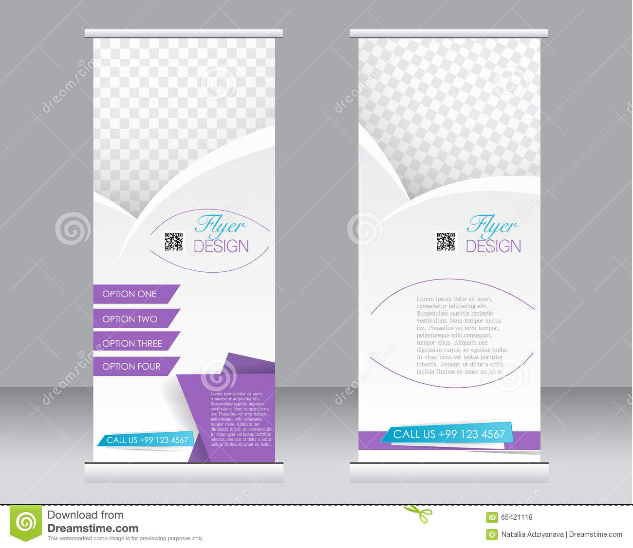 roll up banner stand template abstract background for design stock