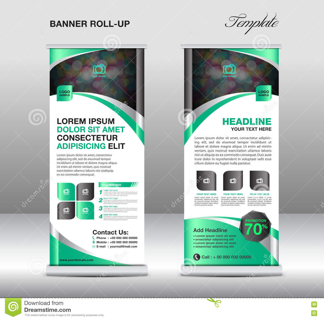 roll up banner stand template stand designbanner template gre