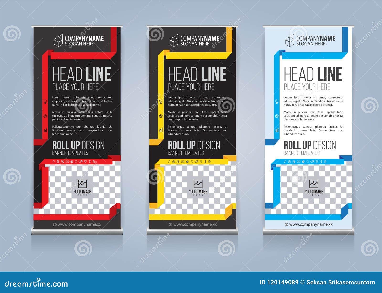 Roll Up Banner Template Design Vector Illustration