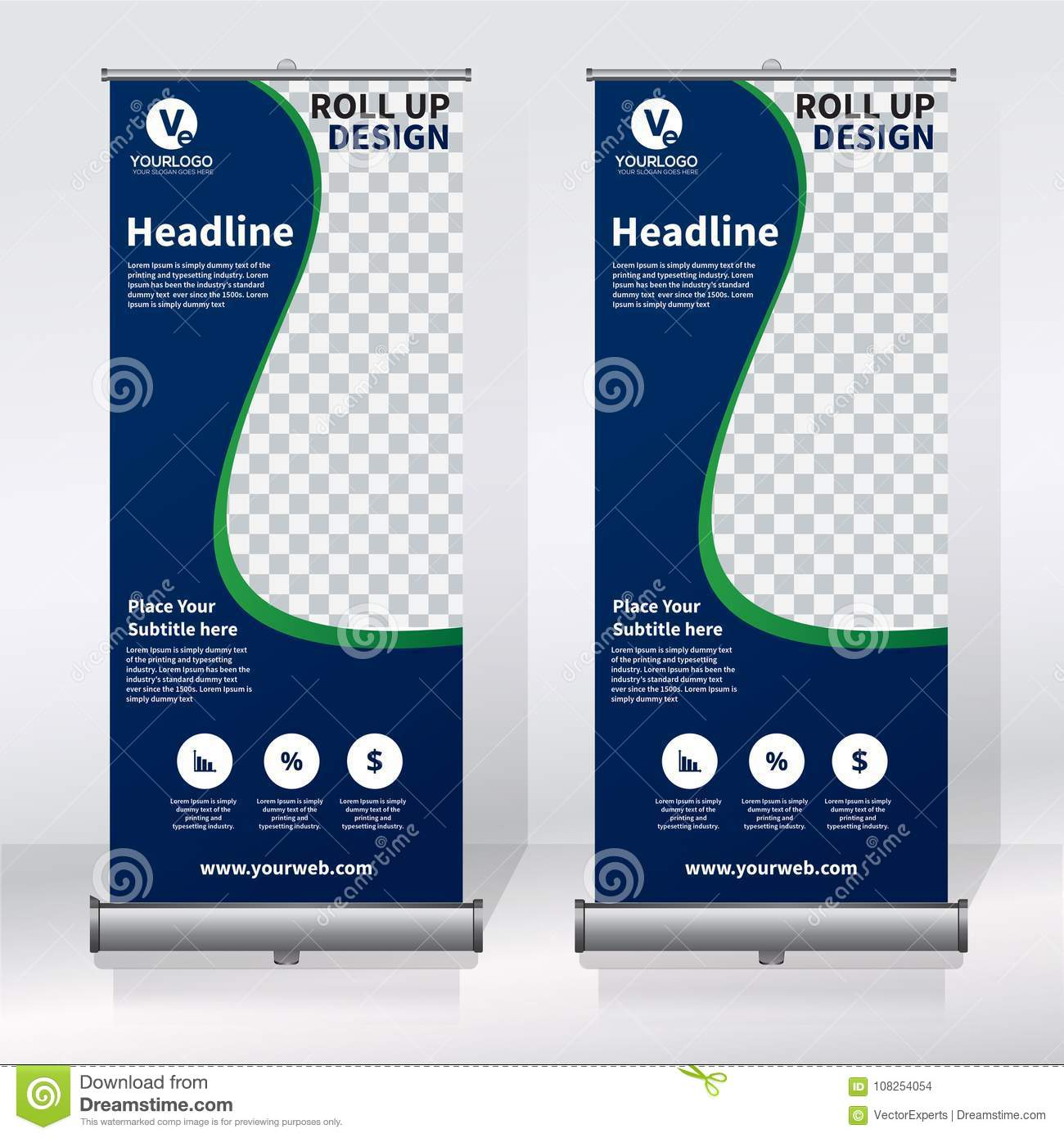 Roll Up Banner Design Template Vertical Abstract Background Pull Up Design Modern X Banner Rectangle Size Stock Vector Illustration Of Clean Illustration 108254054