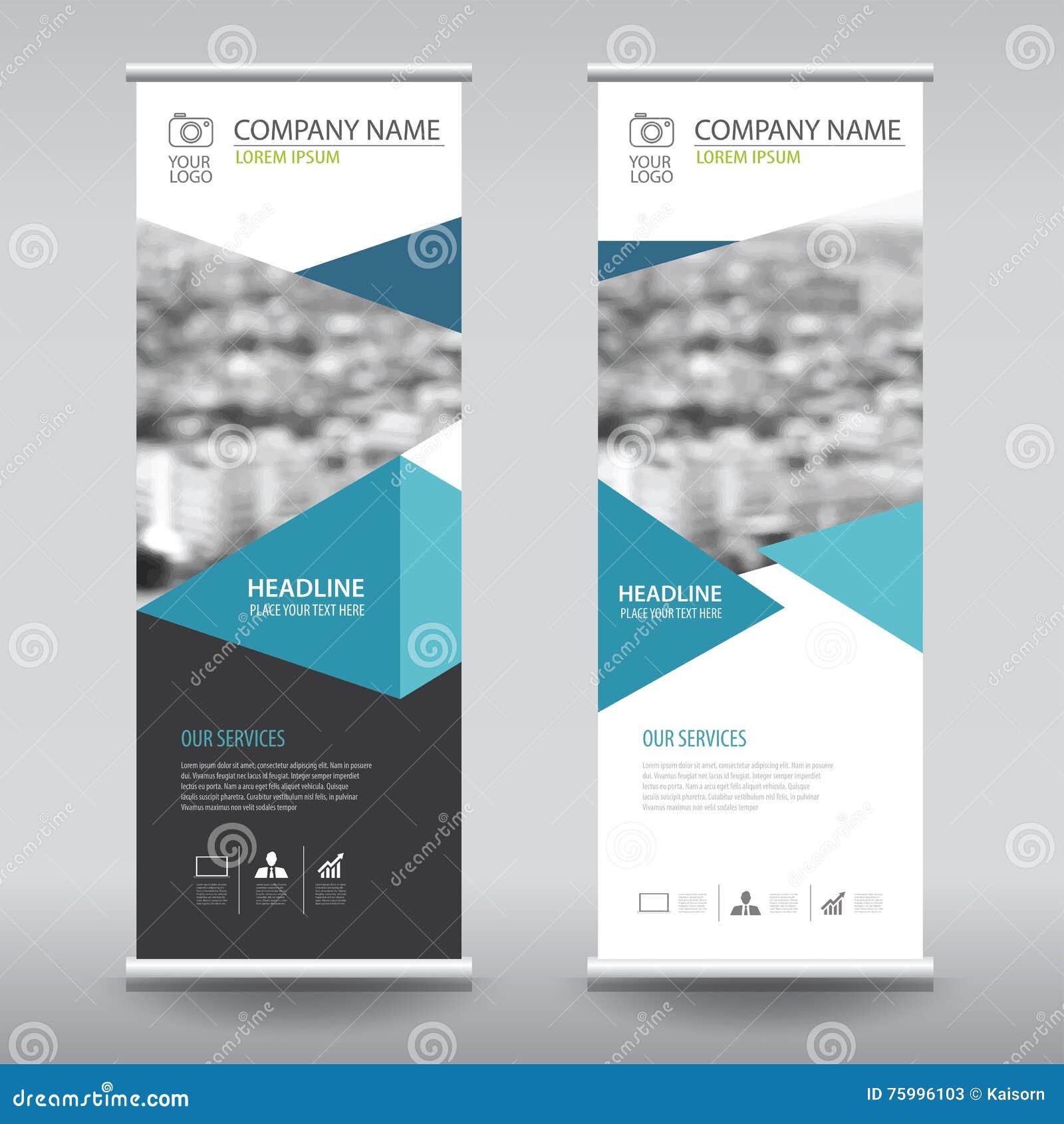 Green roll up business brochure flyer banner design vertical template - Roll Up Business Brochure Flyer Banner Design Vertical Template Stock Photos