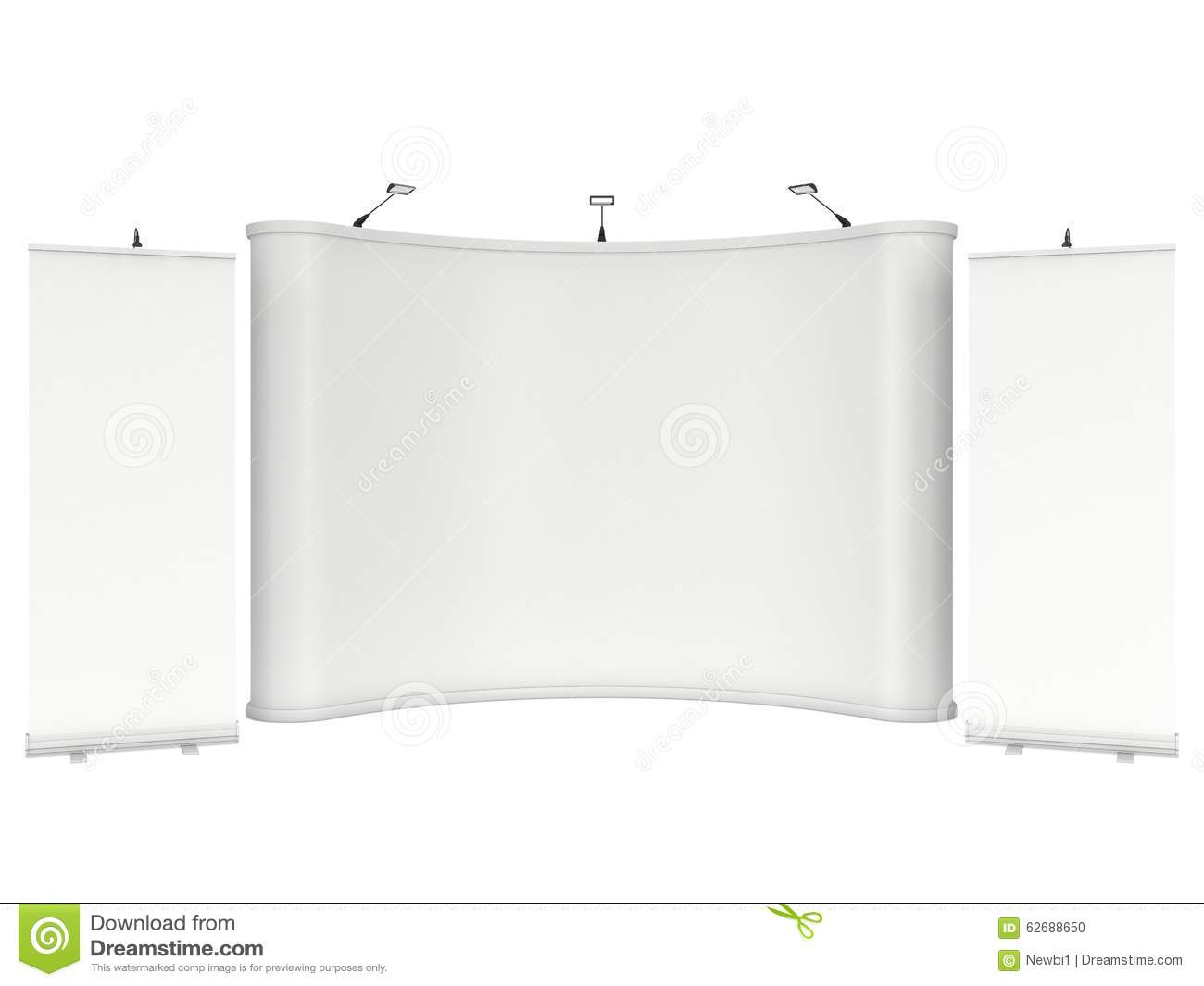 roll up and pop up banner stands stock illustration illustration