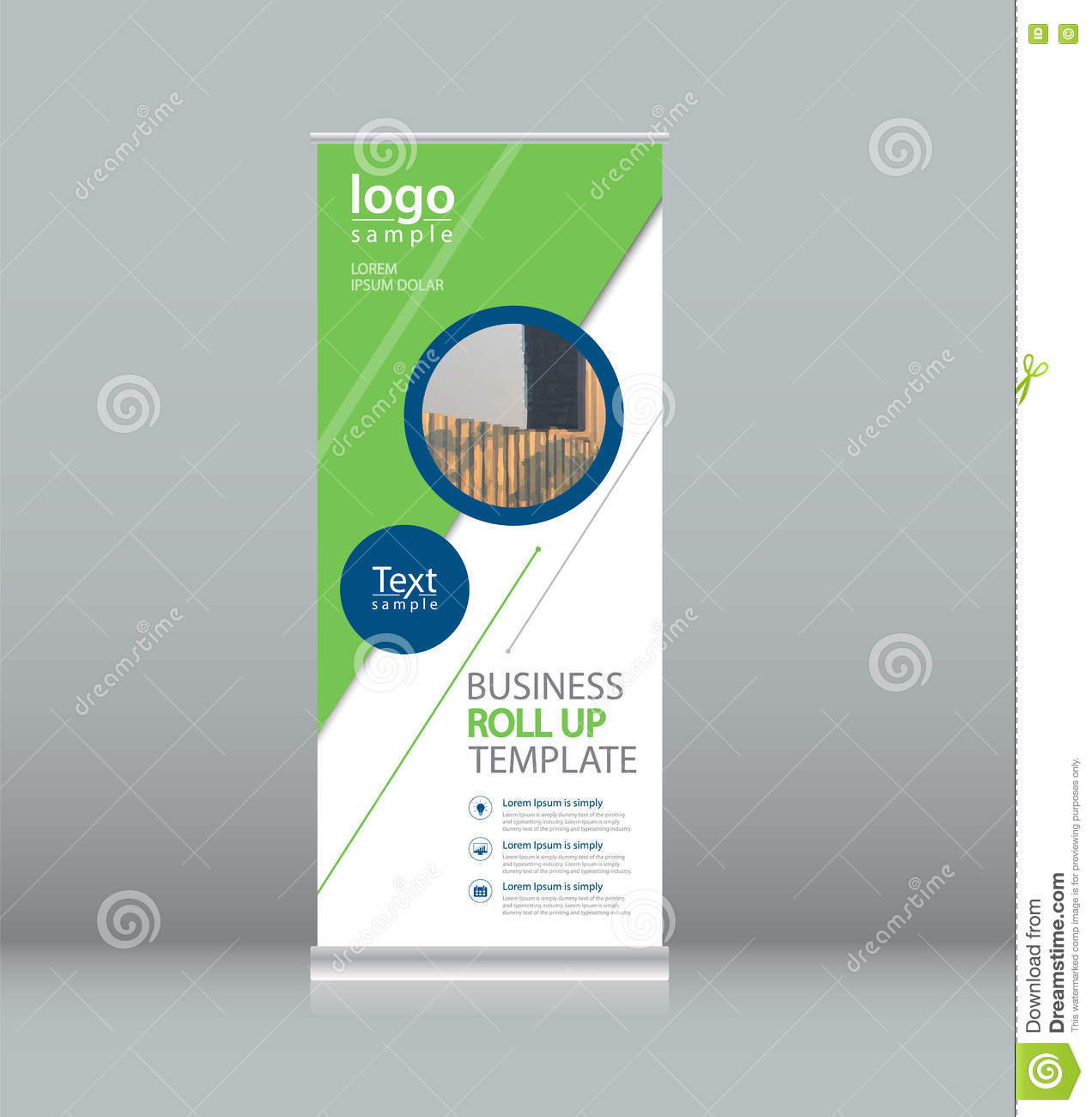 Roll Up , X Stand Display Design Template For Business Stock Vector ...