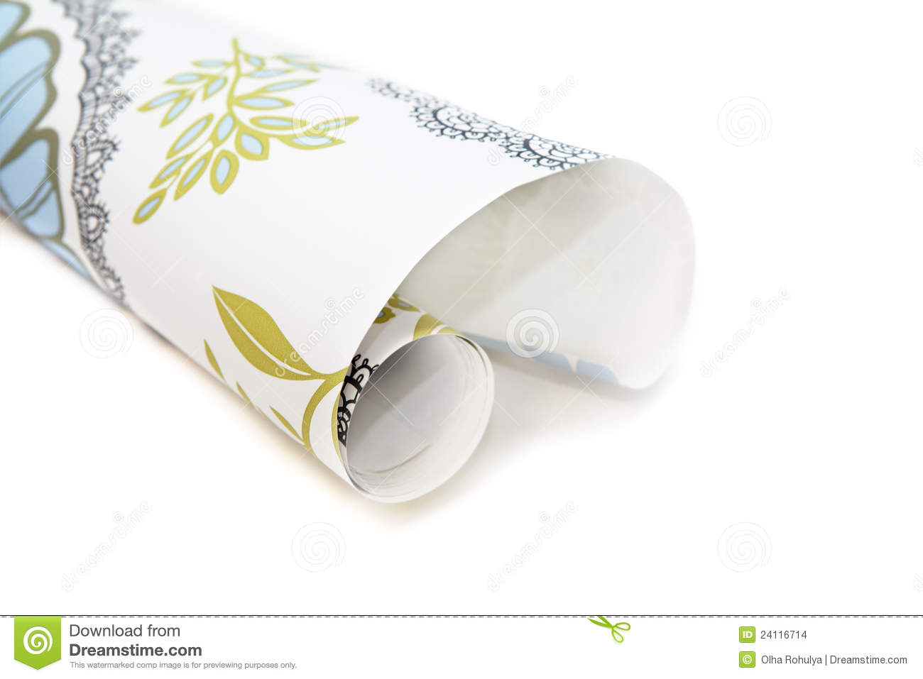 Roll of wallpaper stock images image 24116714 for Wallpaper roll