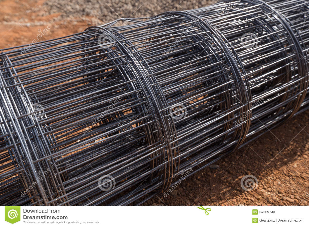 Download Roll of wire mesh stock image. Image of roll, industry - 64869743