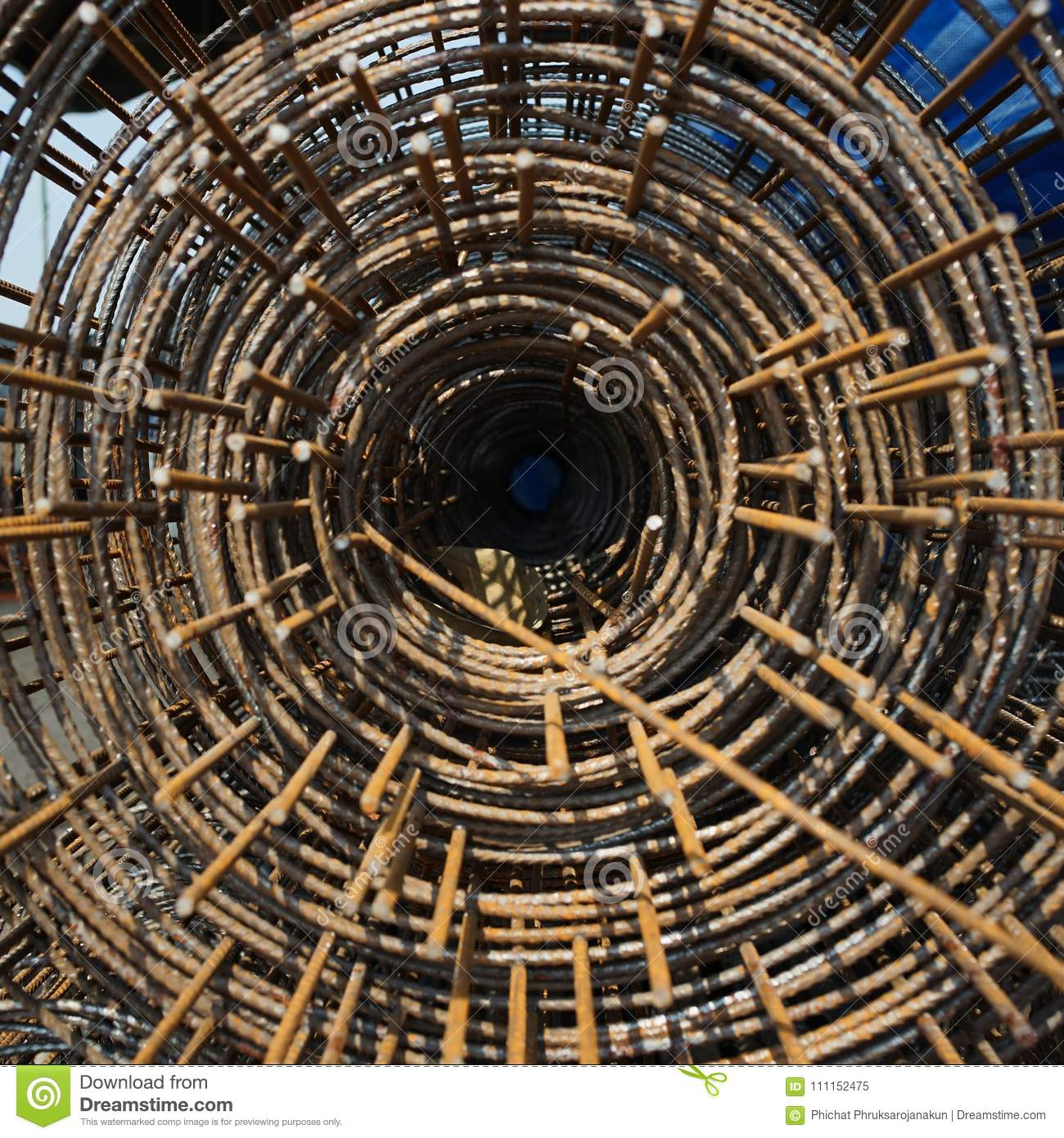 Roll Of Wire Mesh At The Construction Site Stock Image