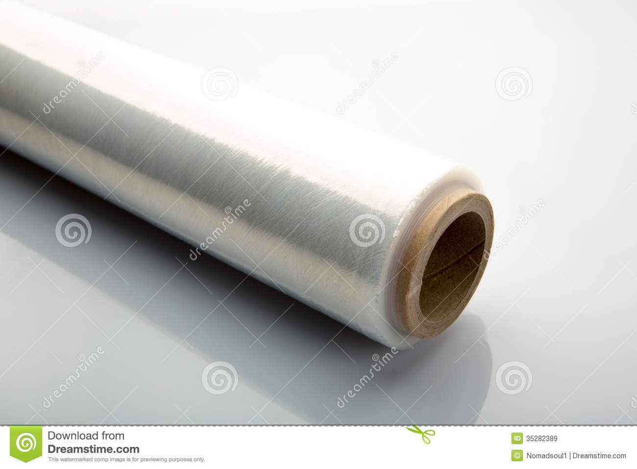 Roll Of Wrapping Plastic Stretch Film Royalty Free Stock