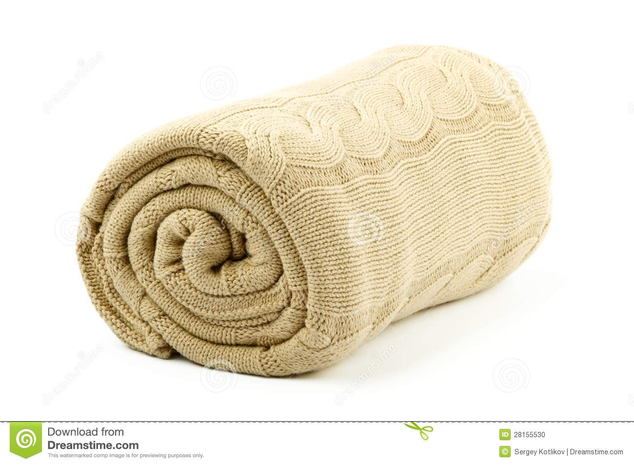 Rolled Beige Blanket Stock Photo Image Of Beige Rolled