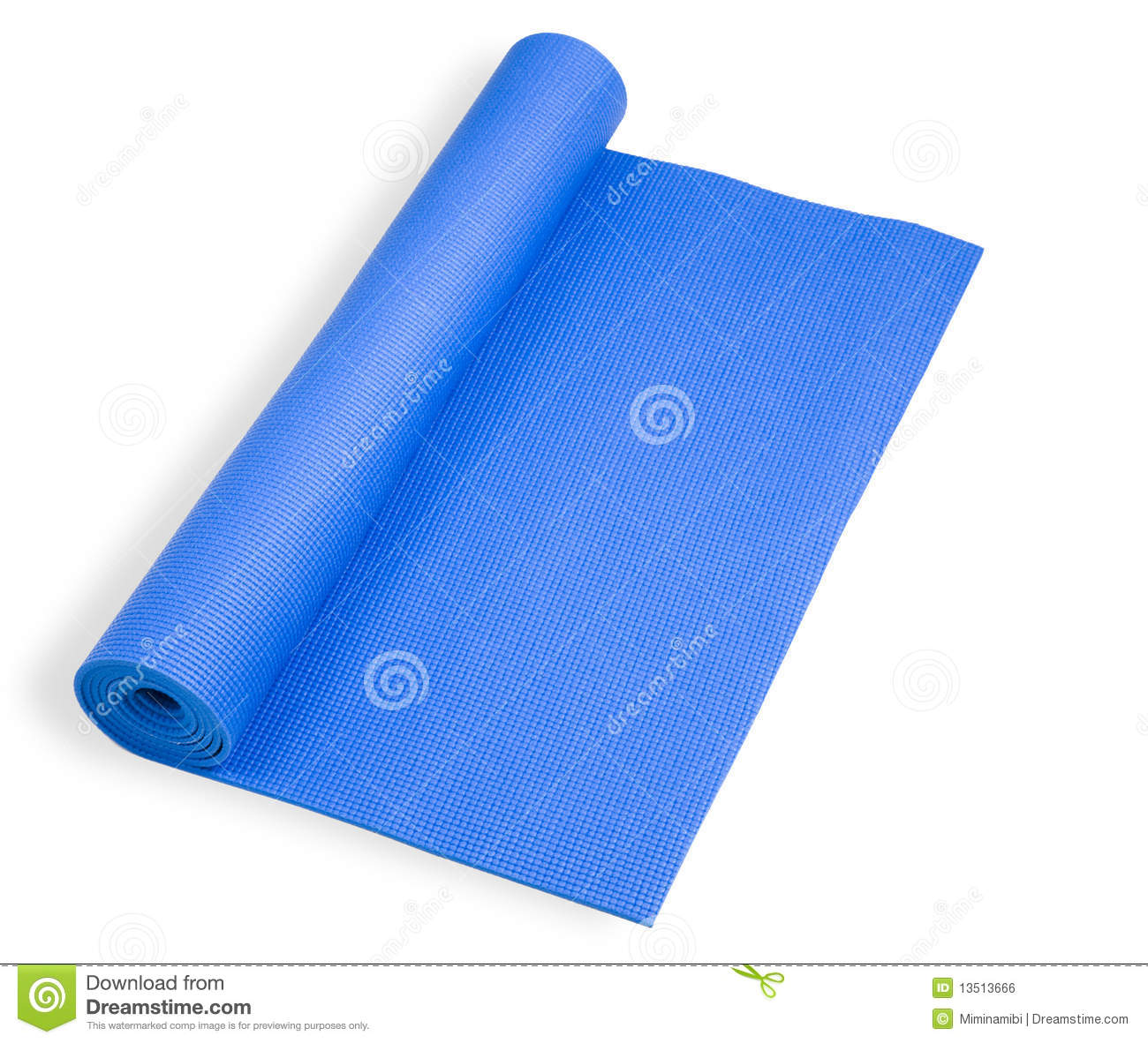 Rolled Blue Mat For Yoga Stock Photo Image Of Warm