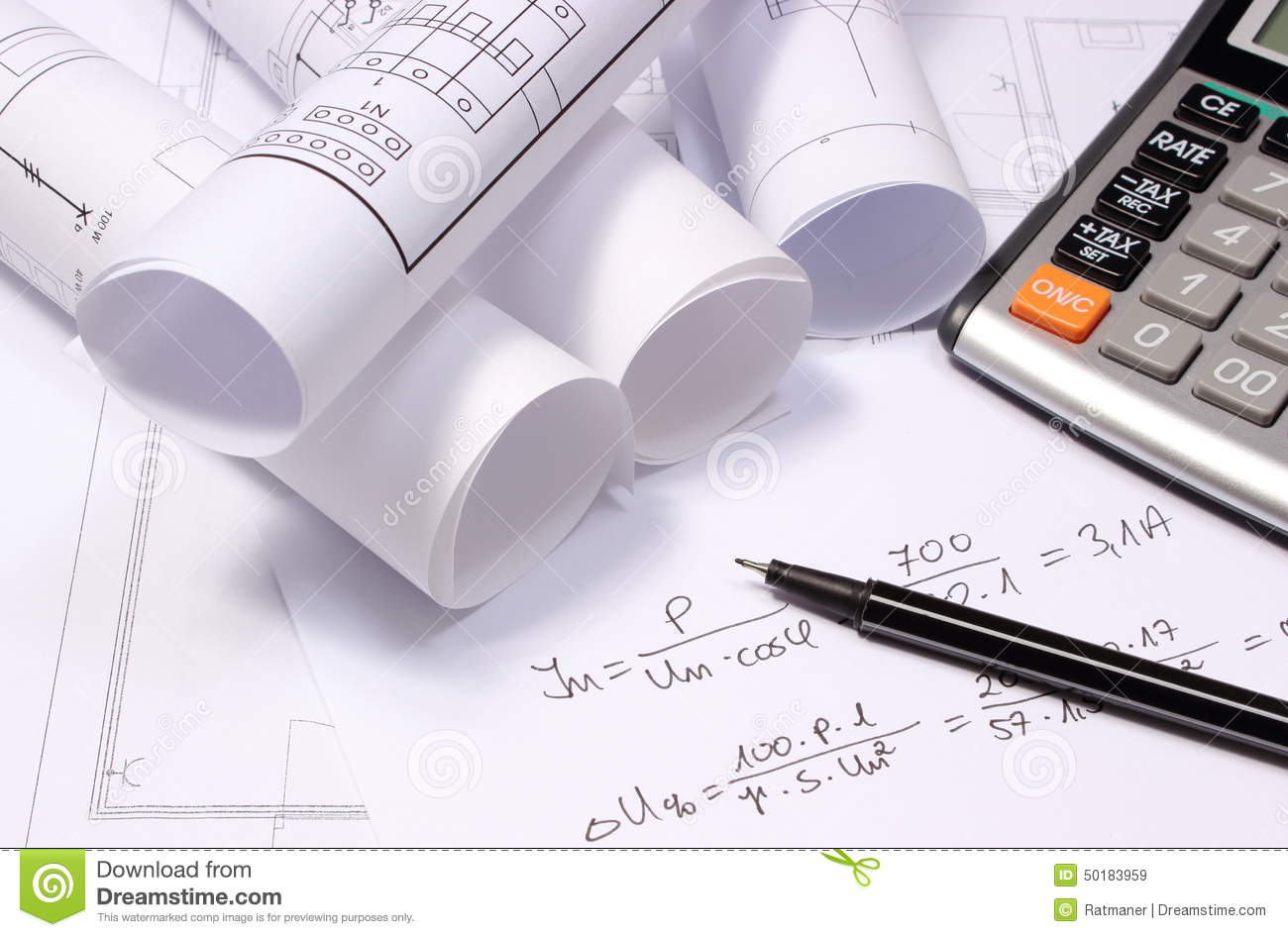 Rolled electrical diagrams calculator and mathematical calculations download rolled electrical diagrams calculator and mathematical calculations stock image image of mathematical ccuart Image collections