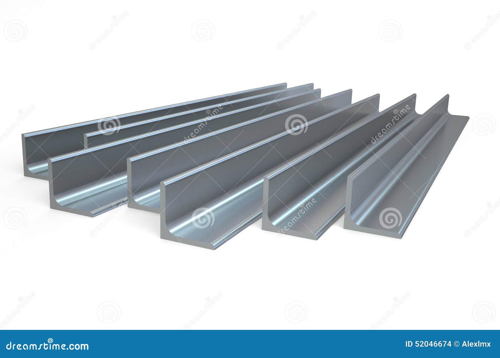 Rolled Metal L Bar Angle Stock Illustration Illustration