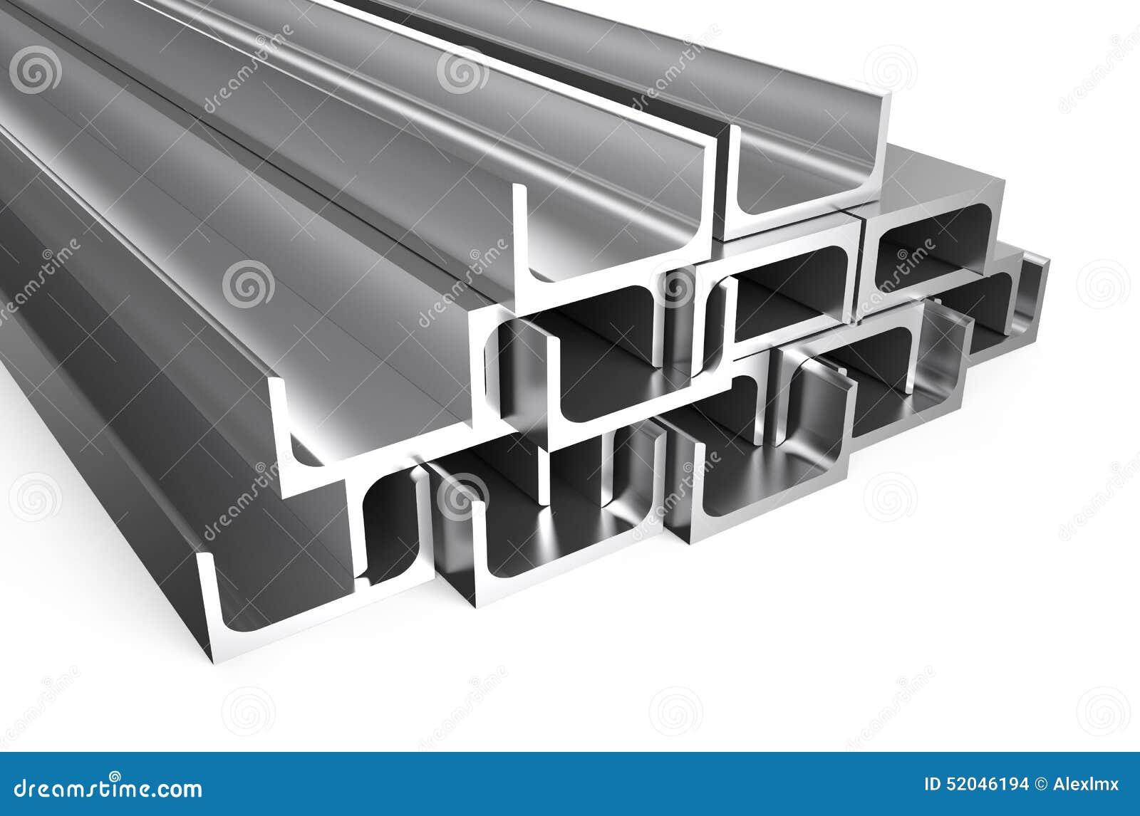 Rolled Metal U Bar Stock Illustration Illustration Of