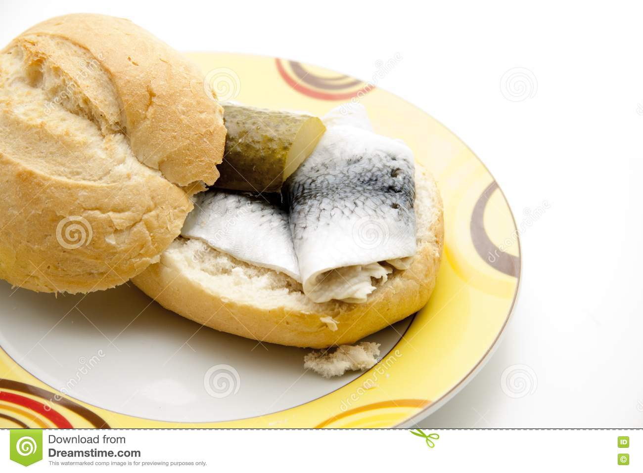 rolled pickled herring with roll royalty free stock photos image 16419668. Black Bedroom Furniture Sets. Home Design Ideas