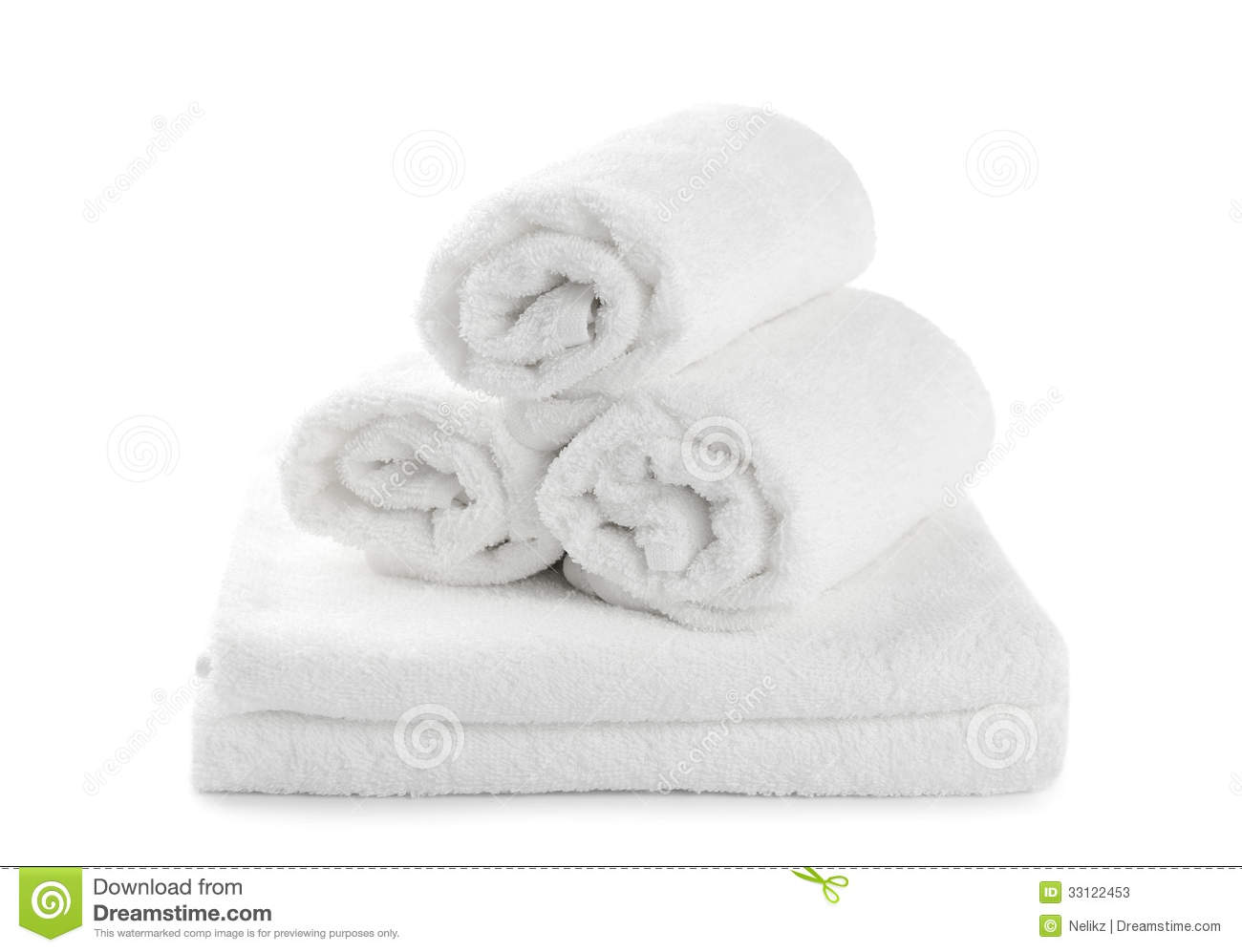 Rolled Up White Beach Towel Stock Photos Image 33122453