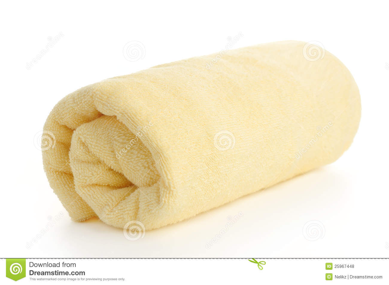 Rolled Up Yellow Beach Towel Royalty Free Stock Photos ...